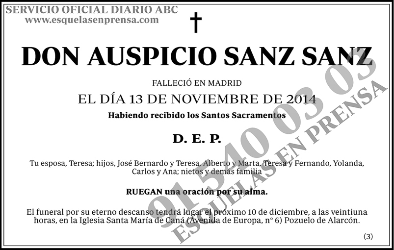 Auspicio Sanz Sanz